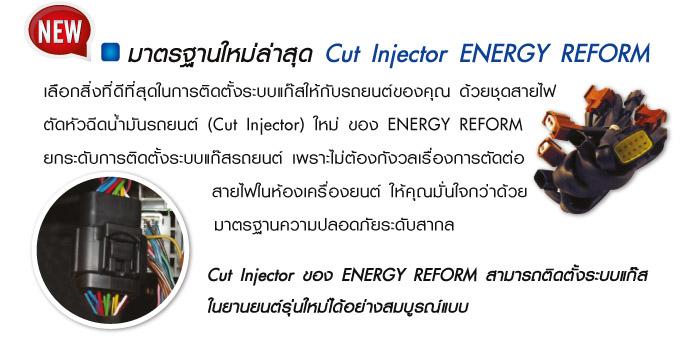 อุปกรณ์เสริมแก๊สรถยนต์ Cut Injector ENERGY REFORM